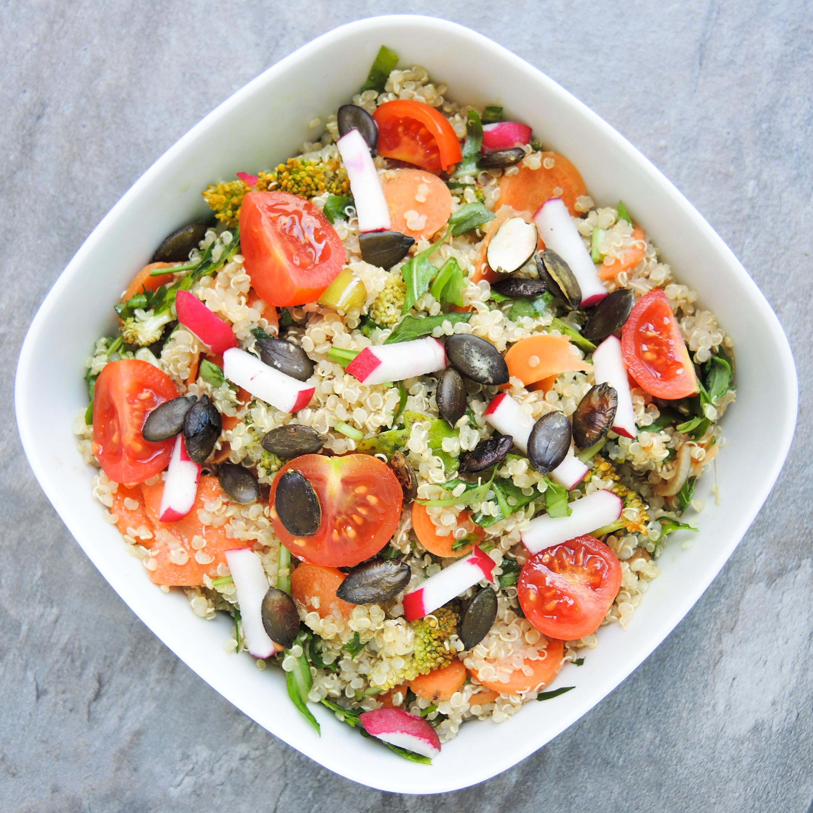 Quinoa, salat, vegan, basisch