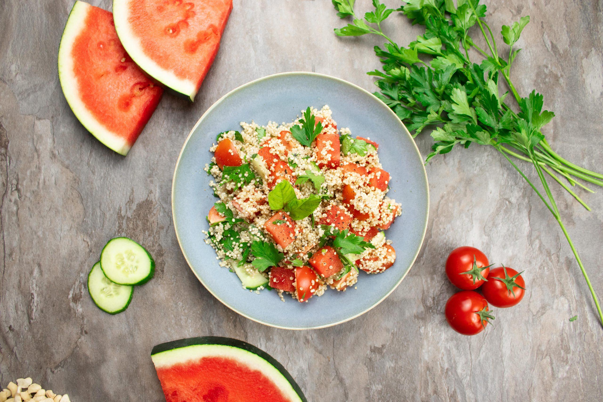 Quinoasalat mit Wassermelone